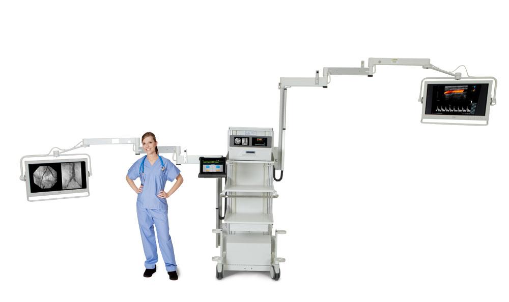 Articulated Arm Ultrasound : Mds video integration system image diagnostics inc