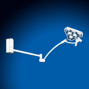 Examination light with wall bracket