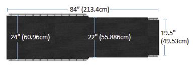 Aspect 100-4 Tabletop dimensions
